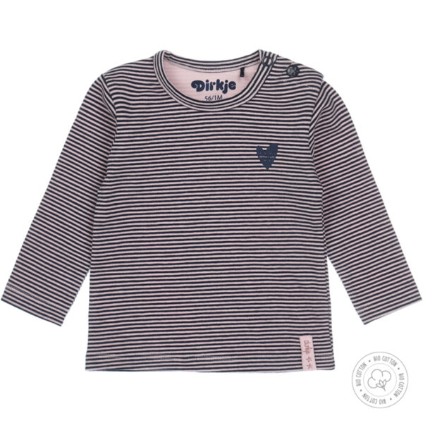 Блуза с дълъг ръкав за момиче от органичен памук