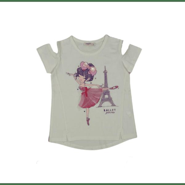 Блуза с къс ръкав за момиче
