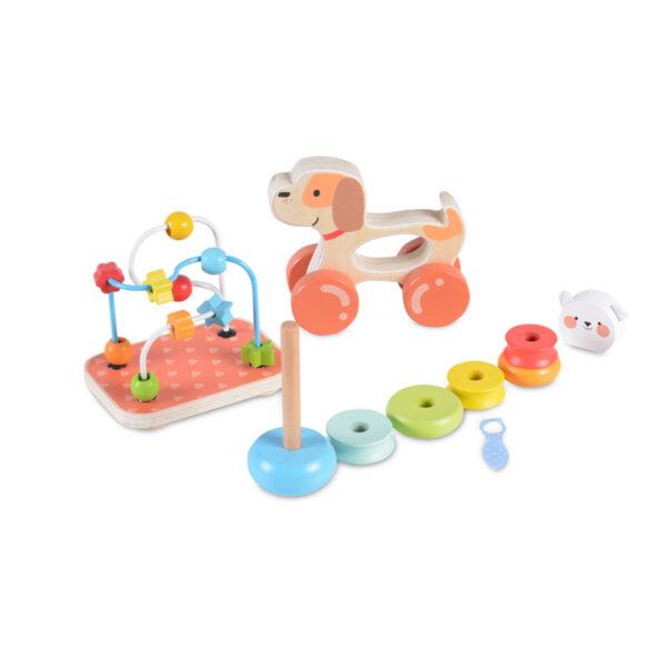 Дървен сет с играчки