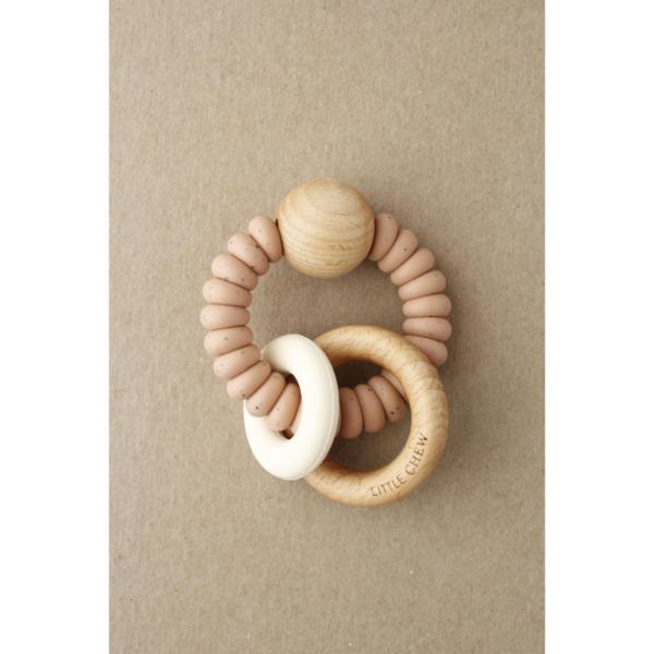 Дървена играчка-гризалка /Speckled Dusty Coral/