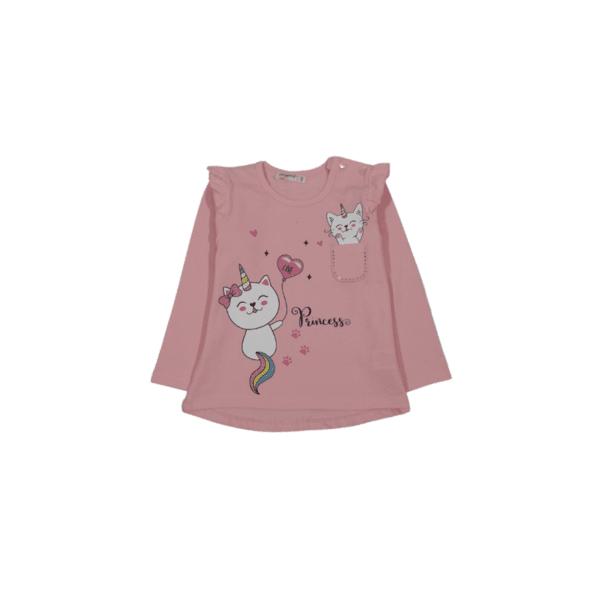 Блуза с дълъг ръкав за момиче