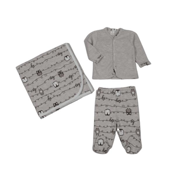Бебешки комплект с пелена
