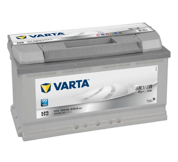 VARTA SILVER DYNAMIC H3 100Ah 830A
