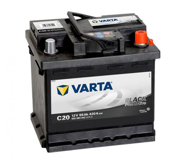 VARTA PROMOTIVE BLACK C20 55Ah 420A