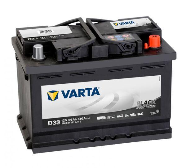 VARTA PROMOTIVE BLACK D33 66Ah 510A