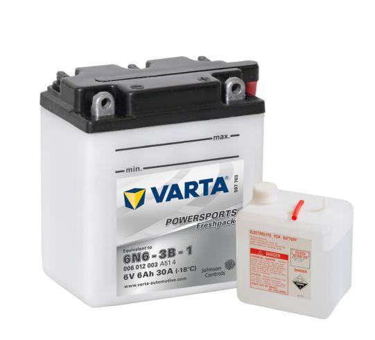 VARTA POWERSPORTS Freshpack 6V 6Ah 30A