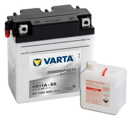 VARTA POWERSPORTS Freshpack 6V 11Ah 80A