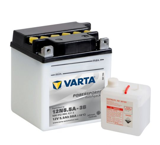 VARTA POWERSPORTS Freshpack 12V 5.5Ah 58A