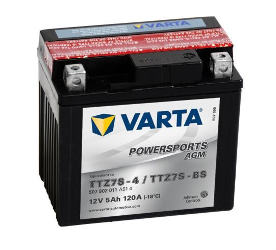 VARTA POWERSPORTS AGM 12V 5Ah 120A