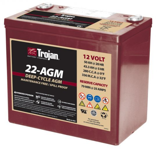 TROJAN DEEP-CYCLE AGM 12V 50Ah