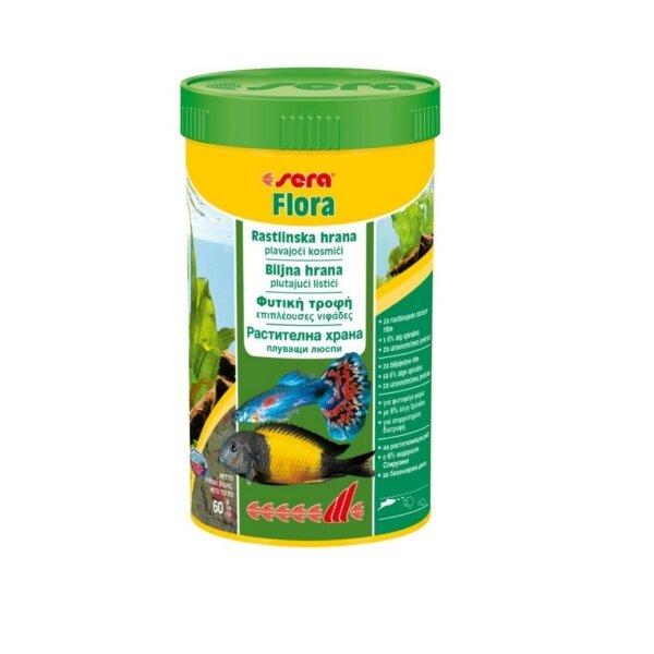 Храна за декоративни рибки SERA Flora - 100мл