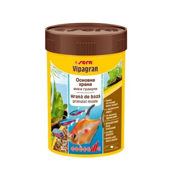 Храна на гранули за декоративни рибки SERA Vipagran - 1000мл