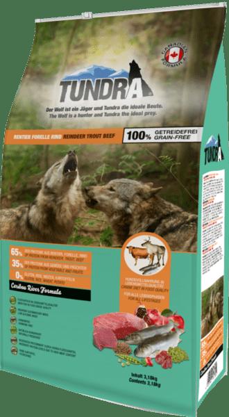 Tundra Елен, пъстърва и говеждо - храна за кучета в зряла възраст