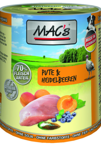Mac's пуйка, боровинки и кайсии