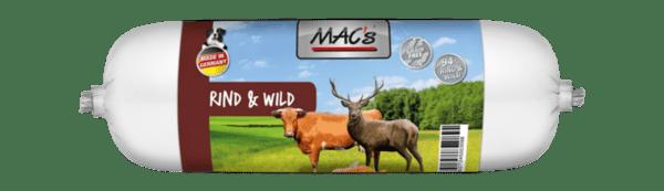 Mac's салам 64.5% говеждо и 29.5% дивеч - пълноценна храна за кучета