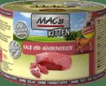 Mac's телешко с пилешки сърца - храна за подрастващи котки