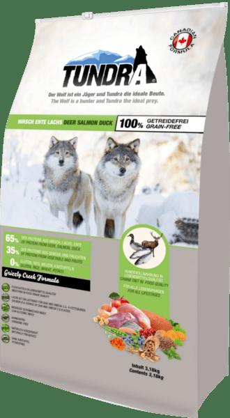 Tundra Елен, сьомга и патица - храна за кучета в зряла възраст