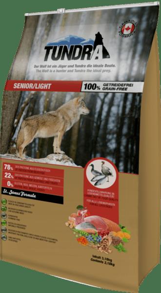 Tundra Пуйка, патица и сьомга - храна за застаряващи кучета