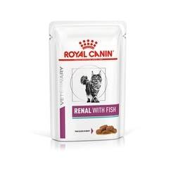 ROYAL CANIN RENAL FISH POUCH ВЕТЕРИНАРНА ХРАНА ЗА КОТКИ С БЪБРЕЧНА НЕДОСТАТЪЧНОСТ ПАУЧ С РИБА 85 гр.