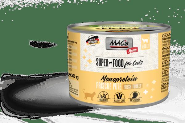 Mac's монопротеин пуйка и моркови - храна за капризни и чувствителни котки