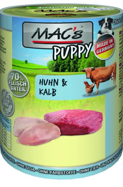 Mac's птиче и говеждо - храна за подрастващи кучета