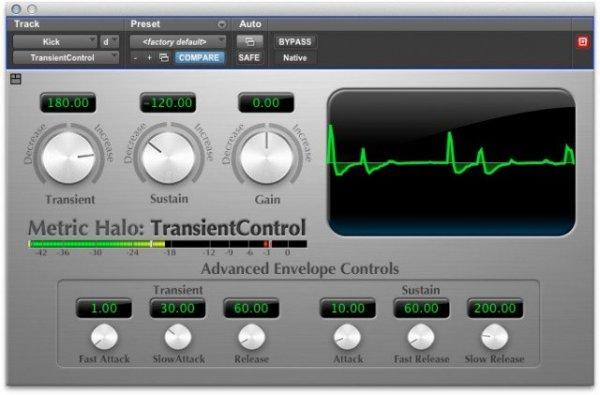 Metric Halo TransientControl Plugins Audio VST AU AAX