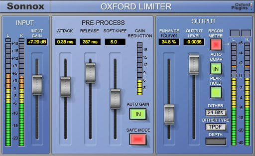 Sonnox Limiter