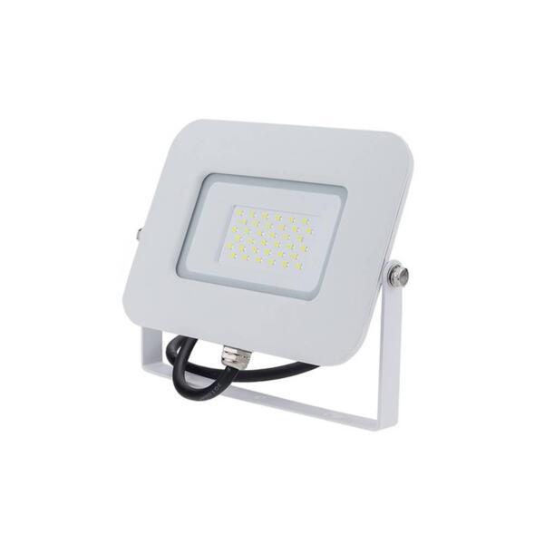 LED SMD ПРОЖЕКТОР БЯЛ 30W AC170-265V 150° IP65 4500K 70CM CABLE