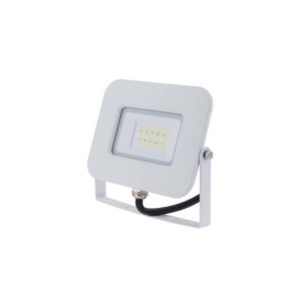 LED SMD ПРОЖЕКТОР БЯЛ 20W AC170-265V 150° IP65 6000K 70CM CABLE