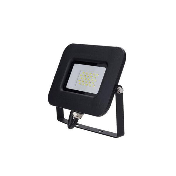 LED SMD ПРОЖЕКТОР ЧЕРЕН 20W AC170-265V 150° IP65 2800K 70CM CABLE