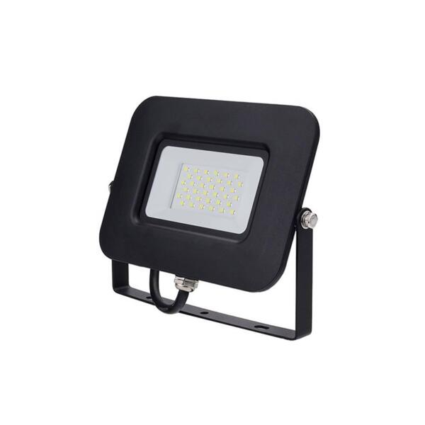 LED SMD ПРОЖЕКТОР ЧЕРЕН 30W AC170-265V 150° IP65 2800K 70CM CABLE