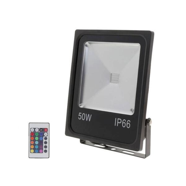 0 50W LED ПРОЖЕКТОР RGB - IP65 С ДИСТАНЦИОННО УПРАВЛЕНИЕ