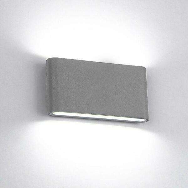 LED АПЛИК 969 2X6W 4000K IP65 СИВ