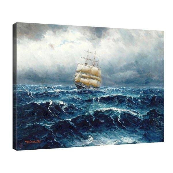 Алфред Йенсен - Ветроходен кораб в сурово море №11043