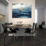 Алфред Йенсен - Ветроходен кораб в сурово море