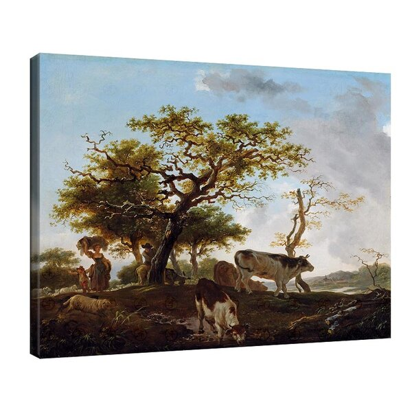 Жан-Оноре Фрагонар - Пейзаж с овчар и стадо №11098