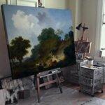 Жан-Оноре Фрагонар - Пейзаж с овчари и стадо овце №11099