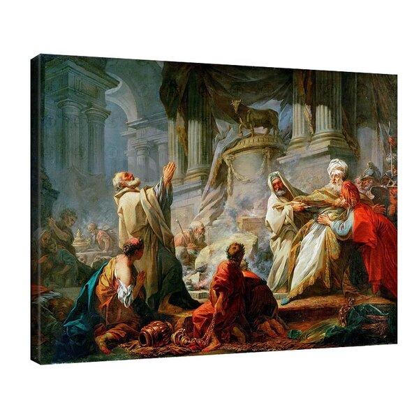 Жан-Оноре Фрагонар - Йеровоам, принасящ жертви на идолите №11110