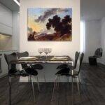 Жан-Оноре Фрагонар - Планински пейзаж при залез