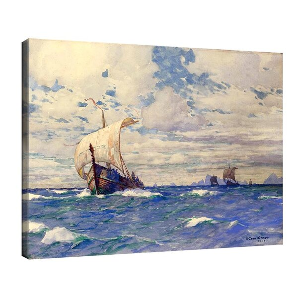 Михаел Димер - Викингски кораби пред скалистия бряг №11134