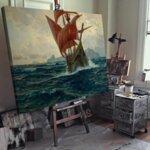 Михаел Димер - Изглед към залива на Котор №11136-Copy