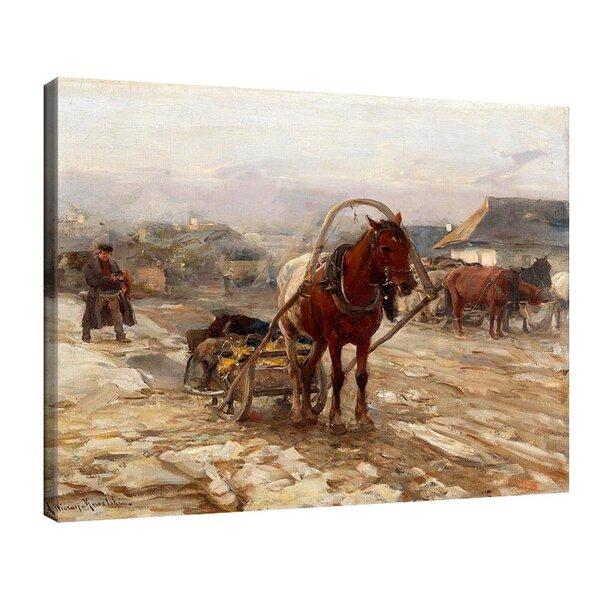 Алфред Ковалски - Кон с шейна на селската улица  №11174