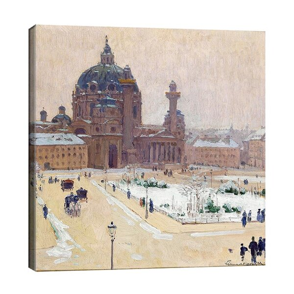 Карл Мол - Карлскирхе през зимата  №11190