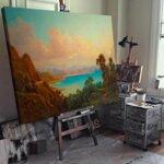 Алберт Ригер - Изглед към залива на Триест