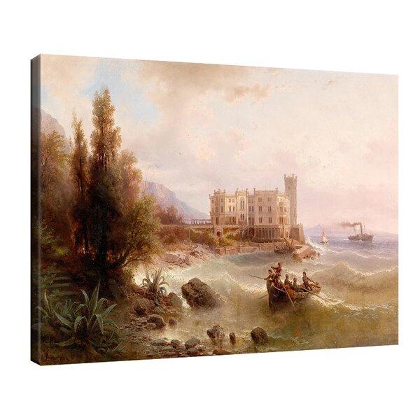 Алберт Ригер - Изглед към замъка Мирамаре  №11201