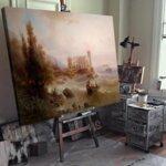 Алберт Ригер - Изглед към залива на Триест  №11200-Copy