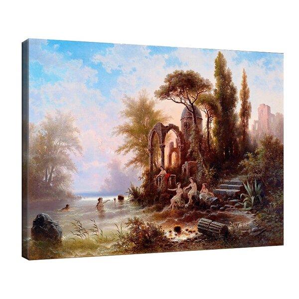 Алберт Ригер - Къпещи се в романтичен пейзаж №11202