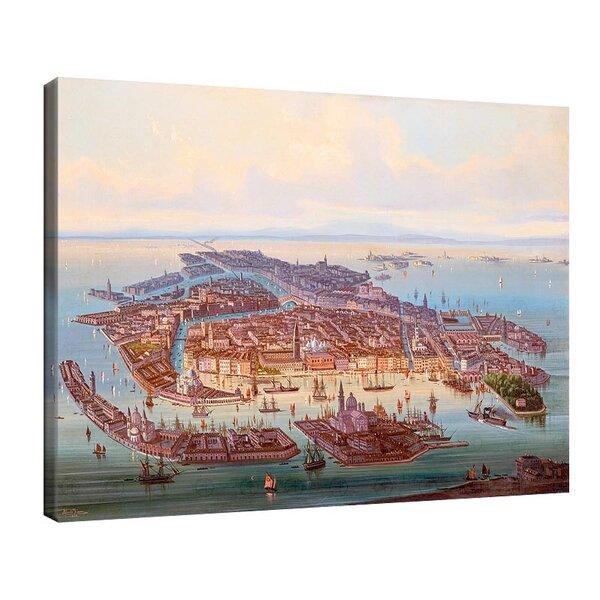 Алберт Ригер - Панорамна гледка към Венеция №11204