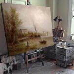 Алберт Ригер - Панорамна гледка към Венеция №11204-Copy