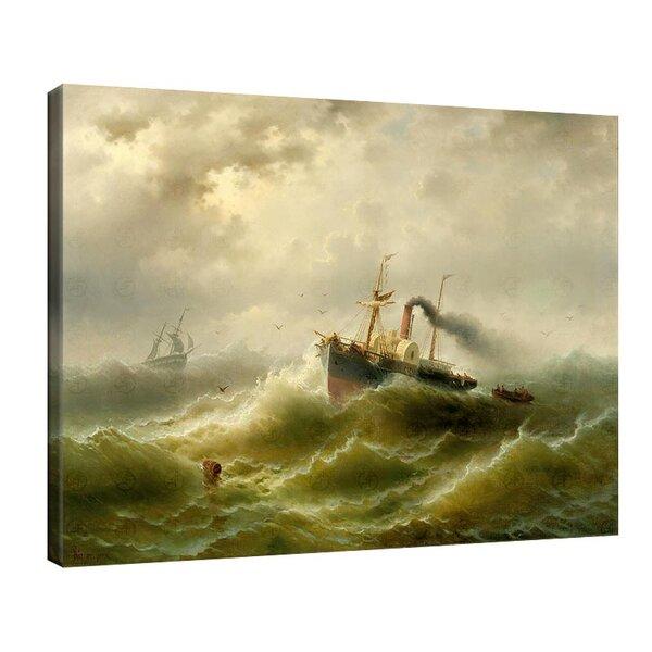 Алберт Ригер - Парна лодка в буря, в Северно море №11206